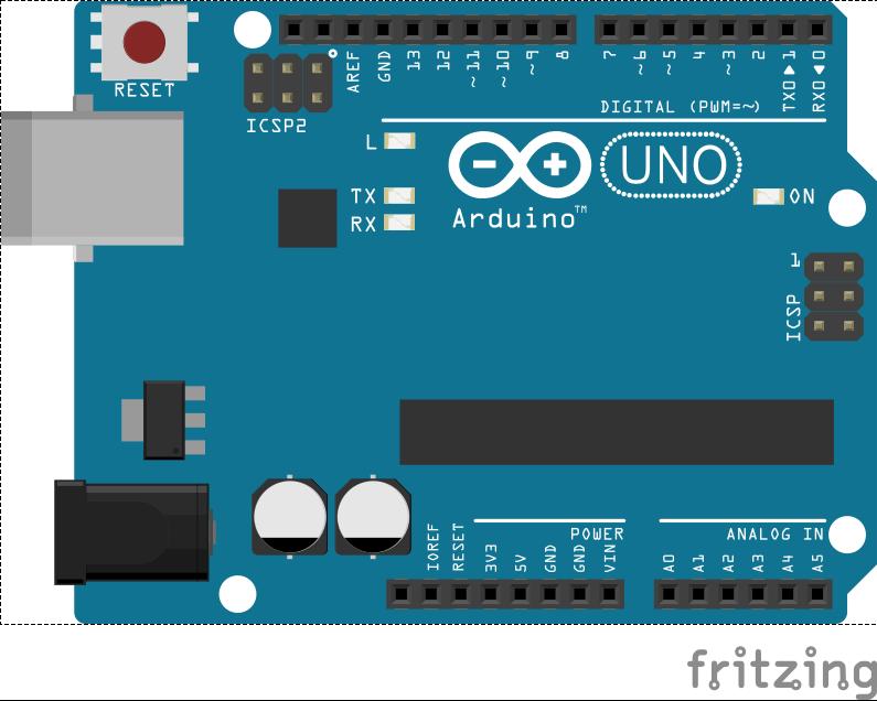 Image de l'Arduino avec Fritzing