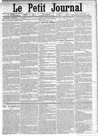 Les journaux proposent une lecture sur plusieurs colonnes