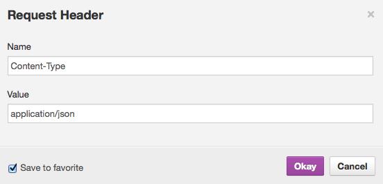 Définition du format des requêtes envoyées avec RESTClient