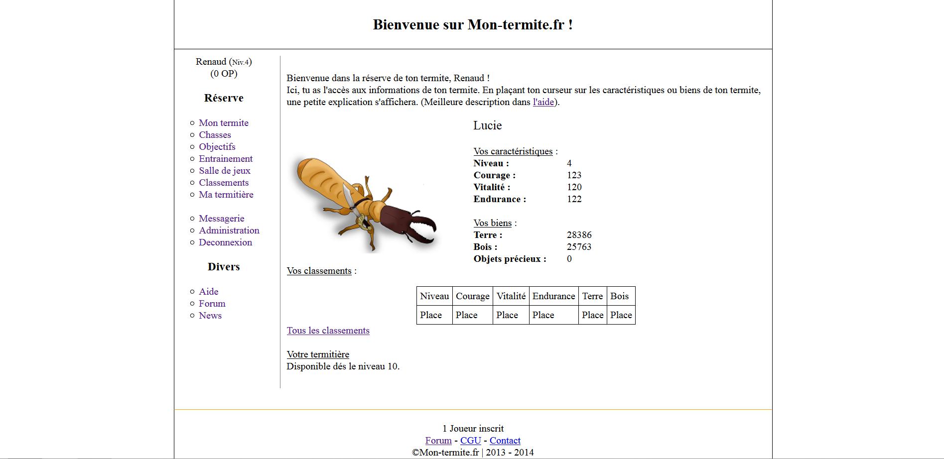 Jeu Par Navigateur Php Gestion D 39 Un Termite Par