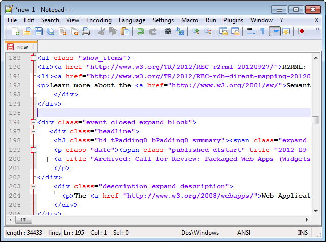 Colors in Notepad++