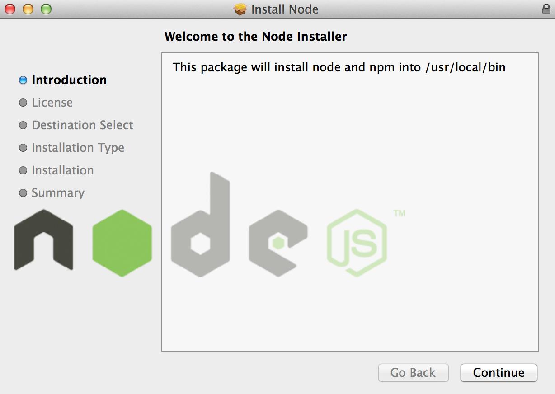 Installing Node.js in Mac OS X