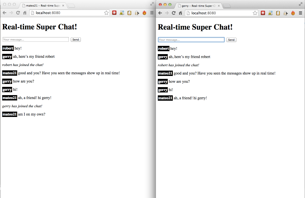 The Super Chat that you will have to create