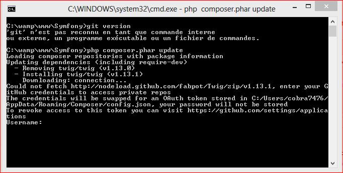 Symfony Instalation De Git Sous Windows Installation Incorrecte