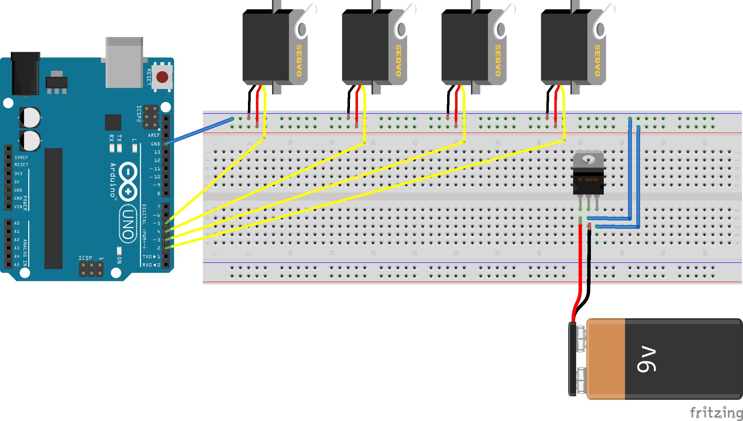 Arduino Controler Plusieurs Moteurs Controler Le Sens Et