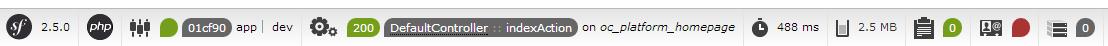 La toolbar apparaît