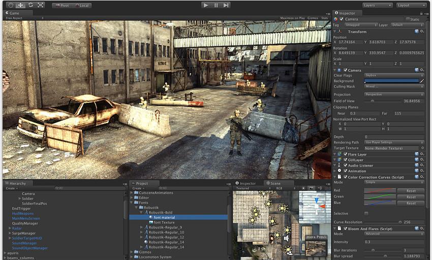 Unity 3D l'un des moteurs les plus utilisé et l'un des plus accessible